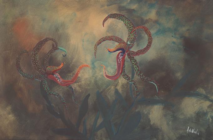 Vechtende Orchideeen by Janus de Winter