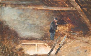 Farmworker at Hayloft by Jan Toorop