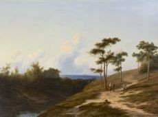 A view of the Rijn valley near Oosterbeek by Cornelis Lieste