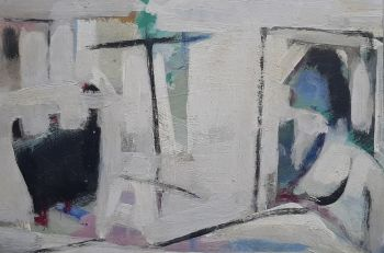 Abstraction,  woman in interior by Klaas Boonstra