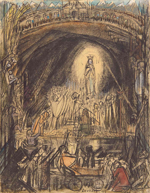 The Cave of Lourdes by Jan Toorop