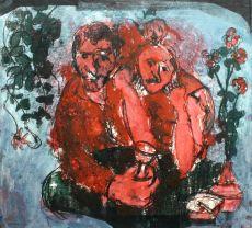 Twee mannen met een glas by Jan Campfens