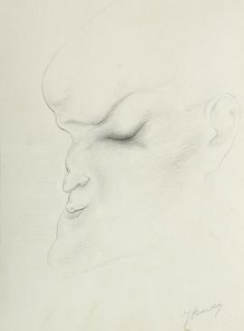 Kop, driekwart naar links by Jacob Bendien