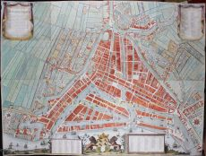 Rotterdam wallmap  by  Andries Munro/ Mortier Covens & Zn
