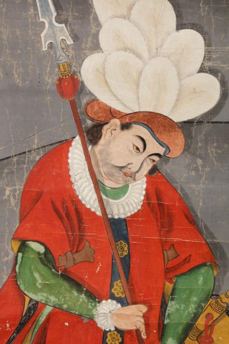 Painting of a Fantasy Dutchman by Shiba Kokan