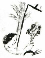Le Bouquet à la Main by Marc Chagall
