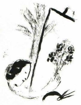 Le Bouquet à la Main by Marc Chagall