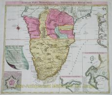 Old map of South Africa by Lotter, Tobias (Conrad)