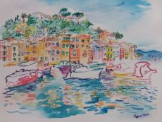 Portofino - Port City in Liguria  by Iam Anna