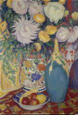 'Still-life with flowers and vase' by Leo Gestel