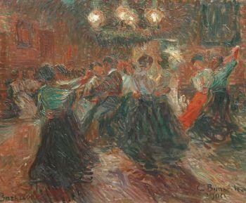 Dance floor by night by Georg Burmester