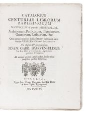 Catalogue of 126 Persian, Arabian, Turkish, Greek, Latin  and other manuscripts and printed books