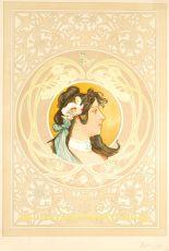 reclame affiche voor Milanaise haarpoeder by Artigue, Albert emile