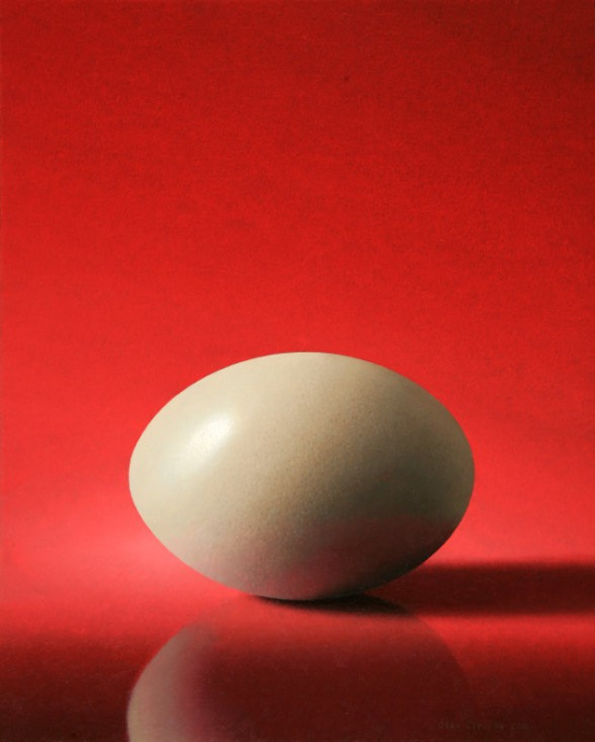 White Nandu Egg by Olav Cleofas van Overbeek