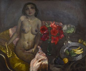 Seated nude with still life by Jan Sluijters