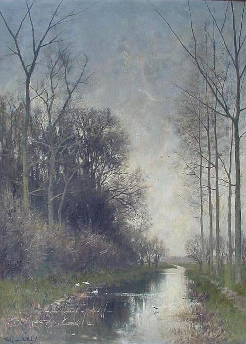 Poldervaart in the Vecht river region by Fredericus Jacobus van Rossum du Chattel
