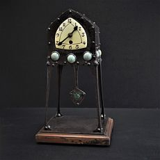 Art deco tableclock by Albin Muller