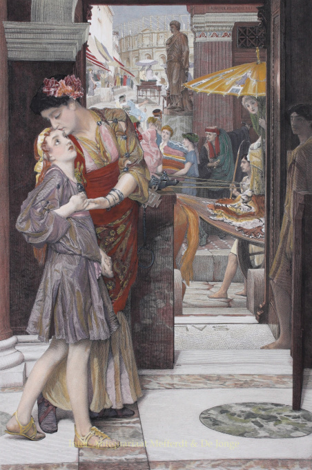 A PARTING KISS     by Lawrence Alma-Tadema