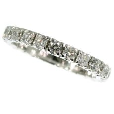 White gold estate eternity band or a so-called alliance ring by Unknown Artist