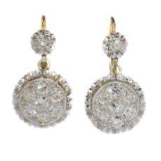 Art Deco diamond short hanging earrings by Unknown Artist