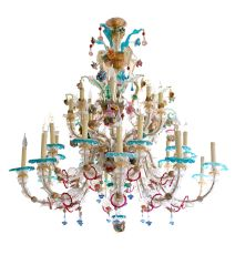 Large exuberant Venetian Chandelier by Unknown Artist