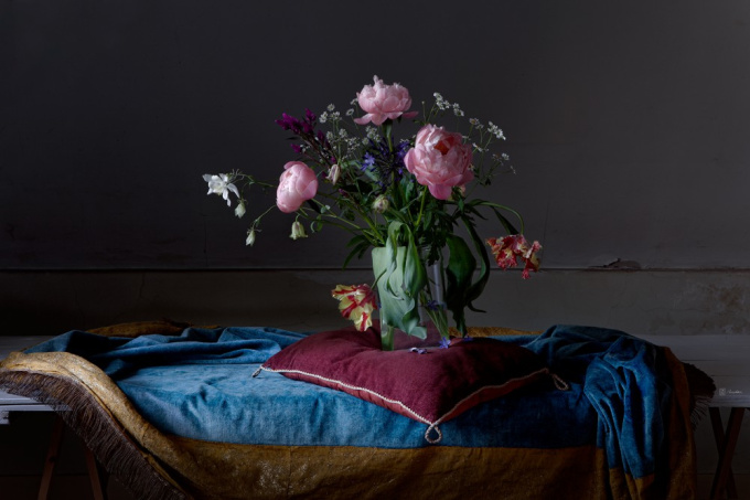 Flowers on a Cushion by Dik Nicolai