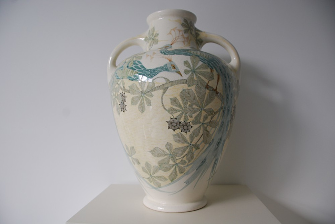 Vase with two handles by Unknown Artist