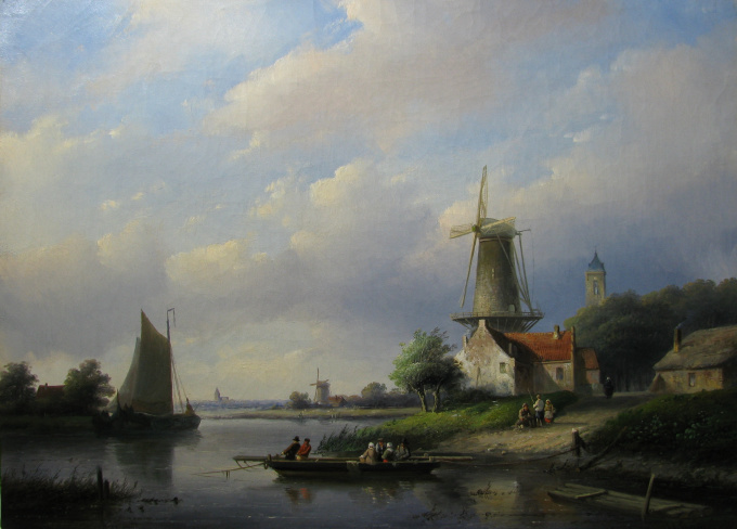 A summer day by Jan Jacob Spohler