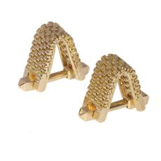 Vintage Fifties sturdy gold cufflinks by Unknown Artist