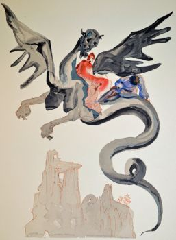 Divina commedia inferno 17 by Salvador Dali