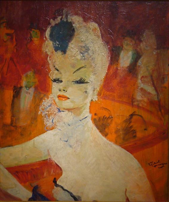 La loge à l'Opéra by Jean-Gabriel Domergue