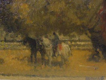 Horses on the beach by Henri van Daalhoff