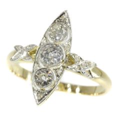 Antique diamond ring from the Belle Epoque era by Unknown Artist