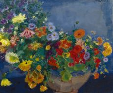 Colourful flowers by Jan Sluijters