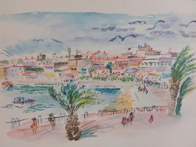 Harbour Front Restaurants at Cabo De Palos Murcia Spain by Iam Anna