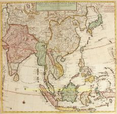South East Asia old map by Covens & Mortier