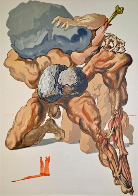 Divina commedia inferno 07 by Salvador Dali