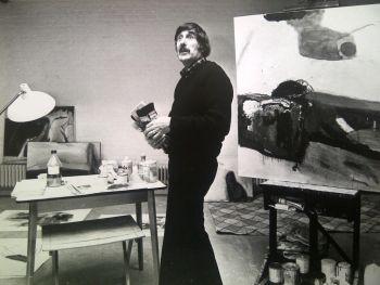 'Pieter Defesche in zijn atelier' by Nico Koster