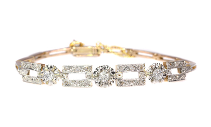 Vintage Art Deco diamond bracelet by Unknown Artist