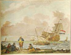 Hoek van Holland  by  De Sallieth naar Backhuysen