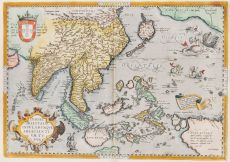 ONE OF THE EARLIEST MAPS OF SOUTHEAST ASIA  by Ortelius, Abraham