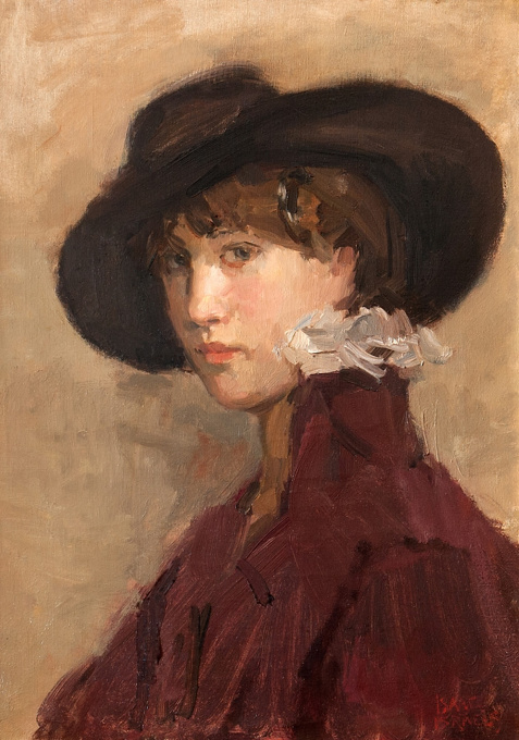 Portret of Willy Gordeau by Isaac Israels