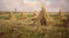 Haystacks near the village Huizen, Netherlands by Jacob Ritsema