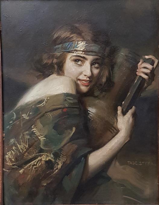 Girl with a jar by Tade Styka
