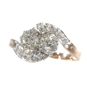 Belle Epoque romantic diamond toi et moi engagement ring - French for you and me by Unknown Artist
