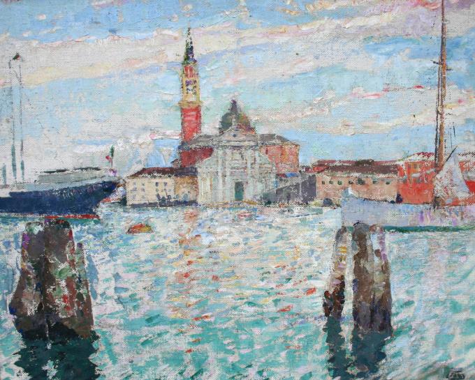 San Giorgio Maggiore au soleil couchant' by Marcel Jefferys