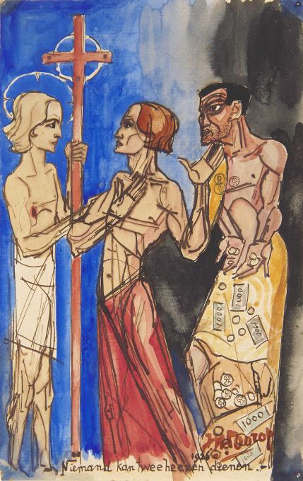 Niemand Kan Twee heeren dienen by Jan Toorop
