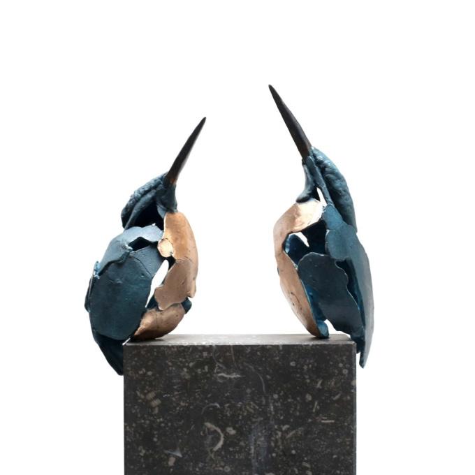 Kingfisher 3  + 4 by Jozephine Wortelboer