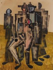 Cubist composition attributed to Vladimir Vasilievich Lebedev (1891 - 1967) by Lebedev, Vladimir Visilevich (1891-1967)