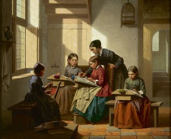 Learning to make lace by Charles Joseph Grips
